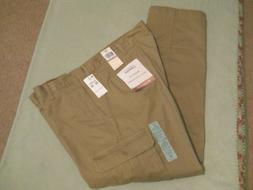 broken in cargo khaki pants athletic fit