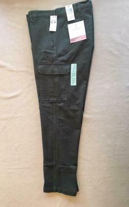 Dockers Broken-In Cargo Pants Athletic Fit 40x32 Army Green