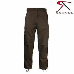 Rothco BROWN Military Fatigue Solid BDU PANTS CARGO SIZES  S