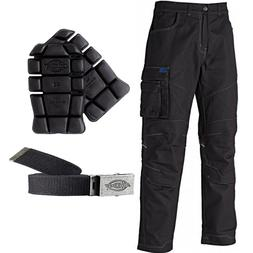 Dickies Camden Cargo Work Trousers, Knee Pads, Clip Belts Me