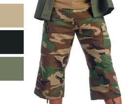 Camo Capris Long Cargo Shorts Military Army Fatigues Tactica
