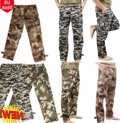Camping Hiking Army Cargo Combat Military Men's Trousers Cam