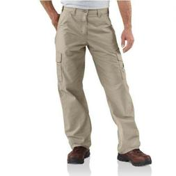 Carhartt Men's Canvas Utility Cargo Pant Dungaree Fit,Tan  ,