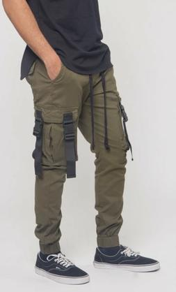 Utility Buckled Cargo Joggers Pants for Men