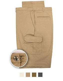 Haggar Men's Cargo Pants Expandable Waist w/Button Extender