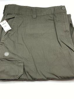 Basic Editions Cargo Pants Men's Size 50W x 30L Green Flat F