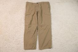 Dockers Cargo Pants Mens 38x29 D2 Straight Fit Brown Canvas