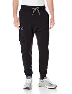 PUMA Men's Cargo Sweat Pants, Black, Large