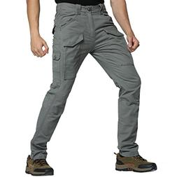 Men Cargo Tactical Pants Cotton Flexible Work Outdoor Casual