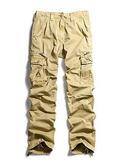 Men's Casual Sports Outdoors Military Cargo Pants #1866 Khak