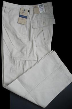 Dockers Casual Pants 40 x 30 Flat Front Relaxed Fit 6 pocket