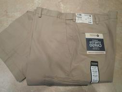 Haggar Classic Fit Cargo Pants - Expandable Waist - Khaki -