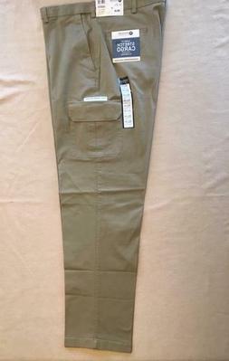 HAGGAR Classic Fit Stretch Cargo Pants 38x34 Camel Khaki