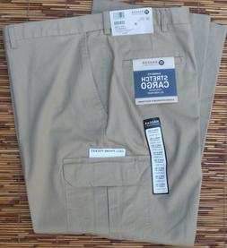 HAGGAR CLOTHING MENS COMFORT CARGO CLASSIC FIT STRETCH COTTO