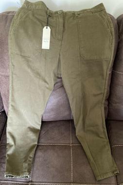 Sanctuary clothing Standard Surplus Olive green SZ 32 zip an