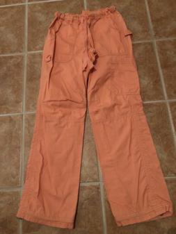 Coral Koi Cargo Scrub Pants -Sml