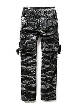 Men's 100% Cotton Outdoors Camouflage Cargo Military Pants #