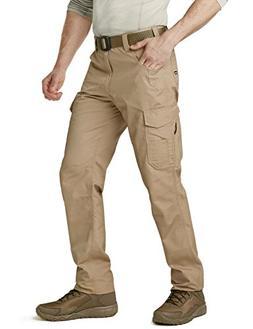 CQR CQ-TWP302-KHK_28W/30L Men's Rip-Stop Tactical Work Utili