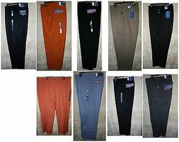 Croft & Barrow Flat/Pleat front Long pants 4 pocket zipper D