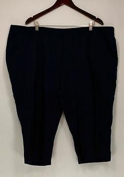 Denim & Co. Women's Plus Sz Pants 3X French Terry Cargo Capr
