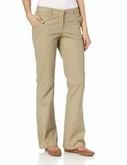 Dickies Women'S Flat Front Stretch Twill Pant Slim Fit Bootc