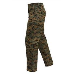 DIGITAL Woodland Camo Cargo Pants BDU Military Army USMC Mar