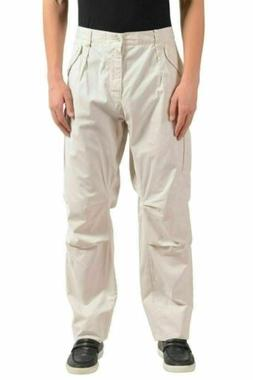 Dolce & Gabbana Men's Ivory Cargo Casual Pants US 40 IT 56