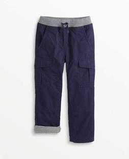 Hanna Andersson Double Knee Jersey Lined Relaxed Cargo Pants