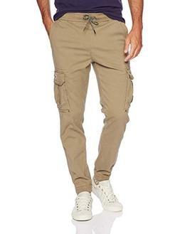 UNIONBAY Men's Elastic Waist Stretch Twill Relaxed Fit Cargo