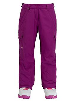 Burton Kids Girls Elite Cargo Snow Pants Grapeseed Size Smal