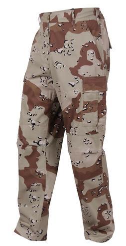 Fatigue Pants Desert Camo Military Cargo Polyester/Cotton BD