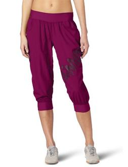 Zumba Fitness LLC Women's Feelin It Cargo Capri, Plum, XX-La