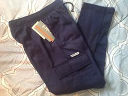 Fleece Cargo Pants Boys Size M Navy NWT