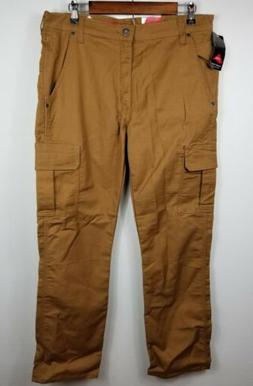 Dickies Flex Cargo Pants Regular Fit 34x32 Tan Brown