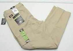 Dickies Flex Men's 36X30 Beige Slim Fit Straight Leg Cargo W