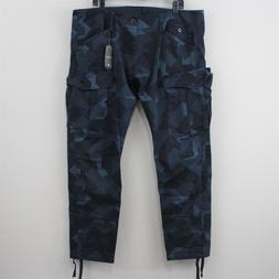 G-Star Raw Men 40 x 32 Rovic Slim Indigo Camo Cargo Pants NW