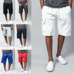 G-Style USA Men's Heavy Weight Fleece Cargo Pocket Sweat Sho
