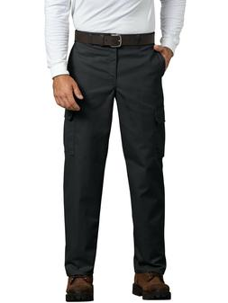 Genuine Dickies Men's Relaxed Fit Flat Front Cargo Pants, Bl