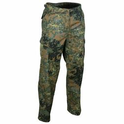 GERMAN FLECKTARN CAMOUFLAGE PANTS MILITARY BDU CARGO 6 POCKE