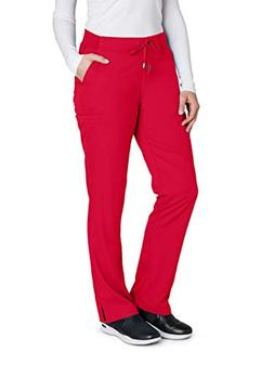 Grey's Anatomy 4277 Straight Leg Pant Scarlet Red S Petite