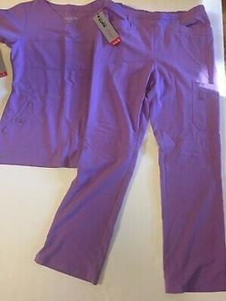 GREYS ANATOMY Barco 2 pc Scrub Set Womens S Lavender Violet