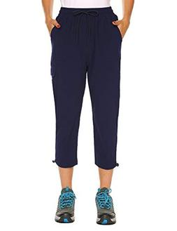 Women's Hiking Pants Outdoor Quick Drying Cargo Capri Pants