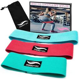 Victorem Booty Resistance Workout Hip Exercise Bands - Fitne