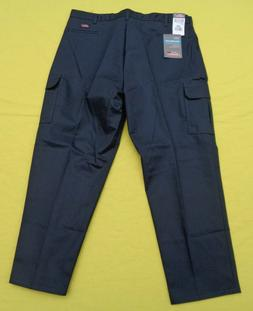 DICKIES HN41 Work Pants Navy Blue Uniform Relaxed Fit Cargo