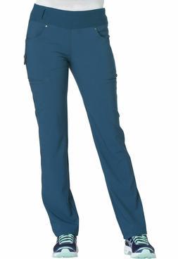 New Cherokee Women's iFlex Knit Waist Cargo Scrub Pant CK002