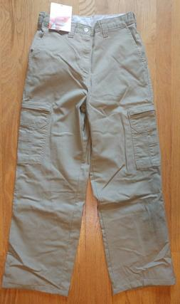Dickies Insect Shield Mens Khaki Cotton Cargo Pants SZ 28X30
