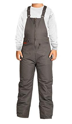 Arctix Youth Insulated Overalls Bib, Large, Charcoal