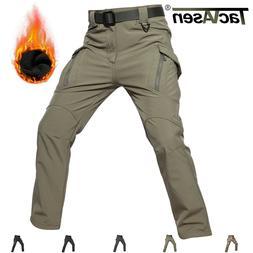TACVASEN IX9 Mens Tactical Cargo Fleece Lined Pants Workout