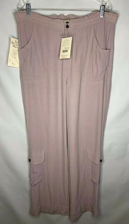 J Jill Paper Bag Waist Pants Size Medium Lavender w/ Cargo P