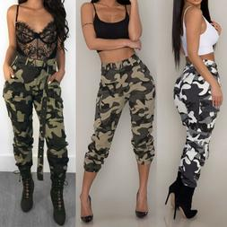 Jeans Women Camo Cargo Trousers Casual Pants Military Army C